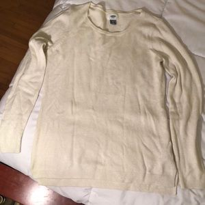 Old Navy Size Small Off White Sparkle Sweater
